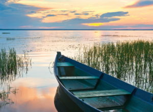 Рассвет на озере в Переславле